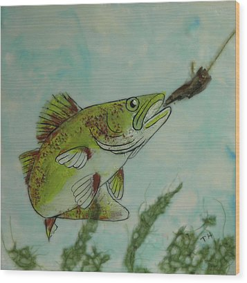 Lunch Wood Print by Terry Honstead