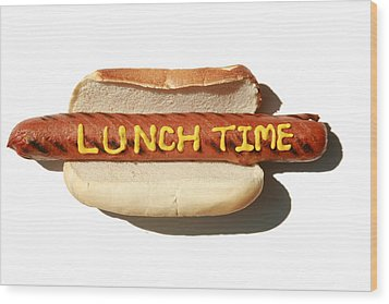 Lunch Time Wood Print by Michael Ledray