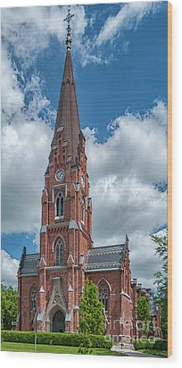 Wood Print featuring the photograph Lund All Saints Church by Antony McAulay