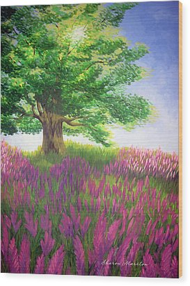 Lupine Afternoon Wood Print by Sharon Marcella Marston