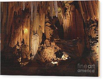 Luray Dark Caverns Wood Print by Paul Ward
