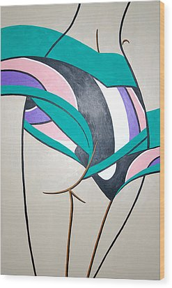 Luring Curves Wood Print by Guadalupe Herrera