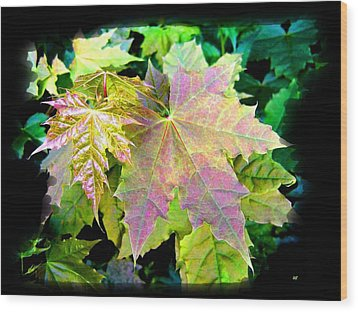 Wood Print featuring the mixed media Lush Spring Foliage by Will Borden