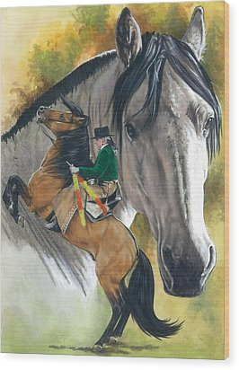 Wood Print featuring the painting Lusitano by Barbara Keith