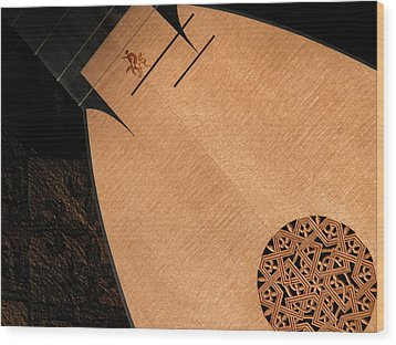 Lute Unstrung  Wood Print by Donna Stewart