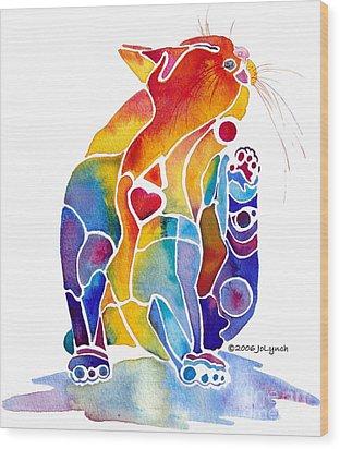 Luv Cat Wood Print