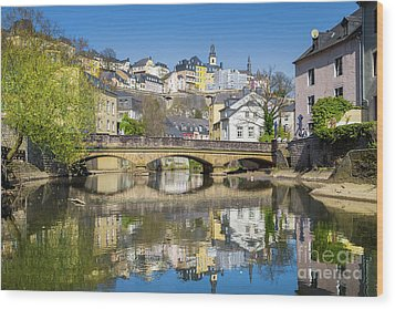 Luxembourg City Wood Print by JR Photography