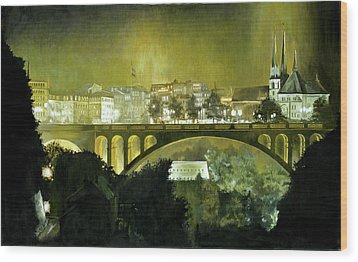 Luxembourg Wood Print by Michael Frank