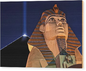 Wood Print featuring the photograph Luxor by Tammy Espino