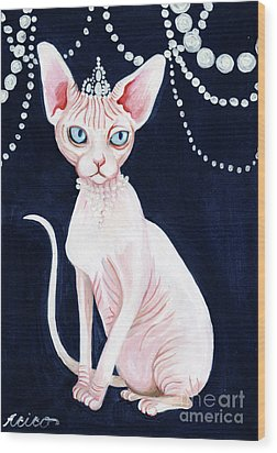 Luxurious Sphynx Wood Print