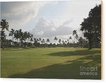 Lyford Cay Golf Club The Bahamas Wood Print by Jan Daniels