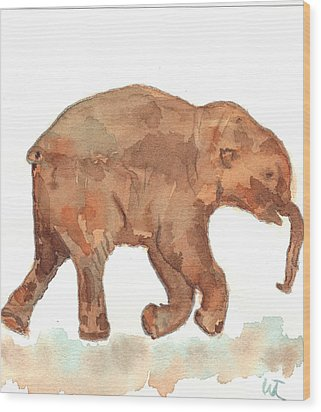 Lyuba The Ice Baby Mammoth  Wood Print