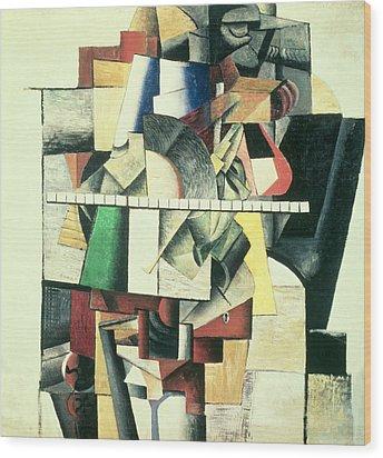 M Matuischin Wood Print by Kazimir Severinovich Malevich