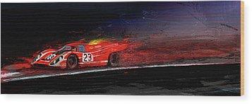 M Mcfly Racing Wood Print by Alan Greene