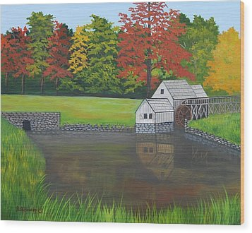 Mabry Grist Mill  Wood Print by Ruth  Housley