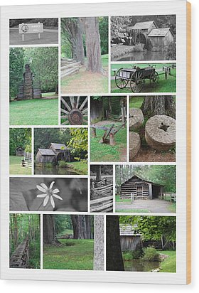 Wood Print featuring the photograph Mabry Mill by Eric Liller
