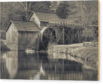 Mabry Mill Wood Print by Harry H Hicklin