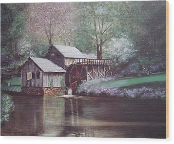 Mabry Mills Wood Print by Charles Roy Smith