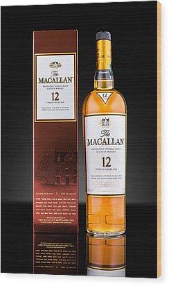 Macallan Single Malt Whisky Wood Print by Mihai Andritoiu