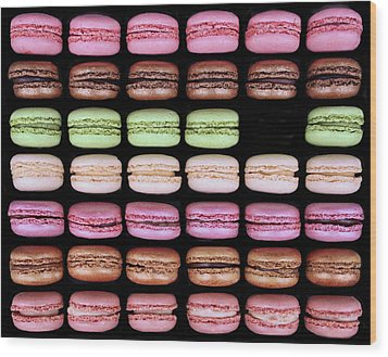 Wood Print featuring the photograph Macarons - One Missing by Nikolyn McDonald