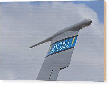 Macdill Mobile Gas Station Wood Print
