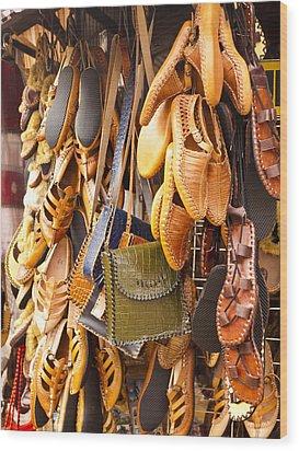 Macedonian Shoes Wood Print by Rae Tucker