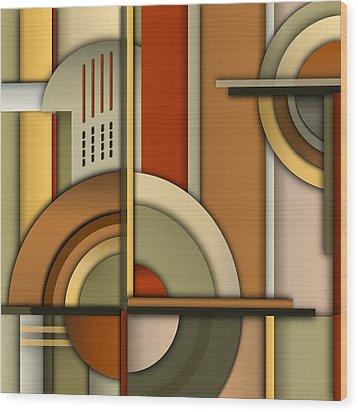 Machine Age Wood Print by Tara Hutton