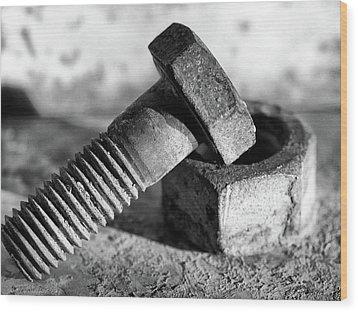machine bolt No.2 Wood Print by Tom Druin
