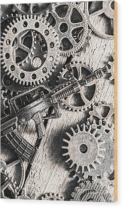 Machines Of Military Precision  Wood Print by Jorgo Photography - Wall Art Gallery