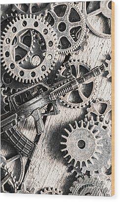 Machines Of Military Precision  Wood Print