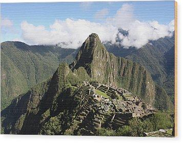 Wood Print featuring the photograph Machu Picchu Ruin, Peru by Aidan Moran