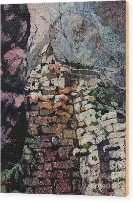 Machu Picchu Ruins- Peru Wood Print by Ryan Fox
