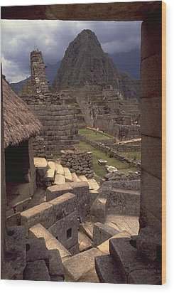 Wood Print featuring the photograph Machu Picchu by Travel Pics