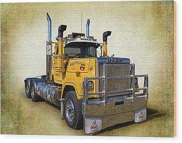 Mack Truck Wood Print by Keith Hawley