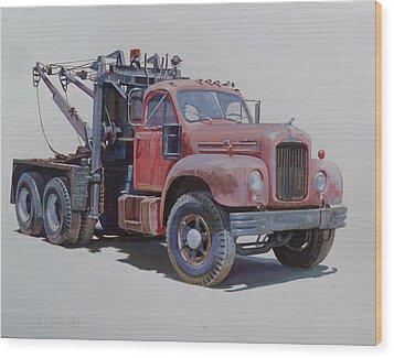 Mack Wrecker. Wood Print