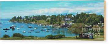 Mackerel Cove On Bailey Island Wood Print