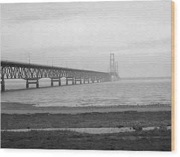 Mackinaw Bridge Wood Print