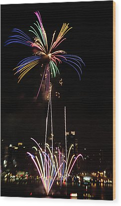 Macy's Fireworks I Wood Print by David Hahn
