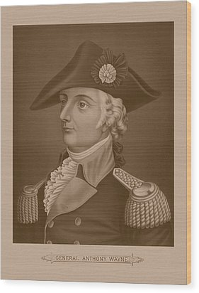 Mad Anthony Wayne Wood Print by War Is Hell Store