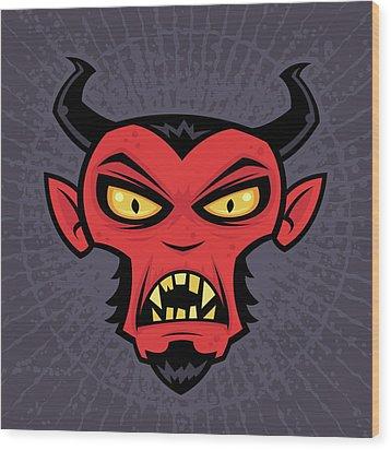 Mad Devil Wood Print by John Schwegel