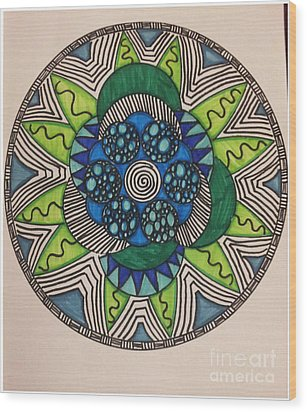 Mad Mandala Wood Print