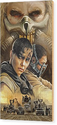 Wood Print featuring the painting Mad Max Fury Road Artwork by Sheraz A