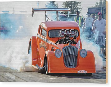 Mad Mike Racing Wood Print
