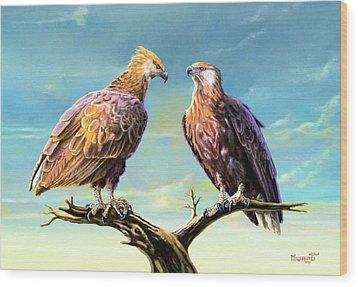 Madagascar Fish Eagle  Wood Print