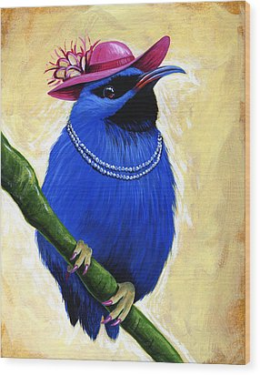 Madame Wood Print by Amy Giacomelli