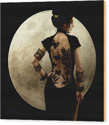 Madame Butterfly Wood Print by Jose Luis Munoz Luque