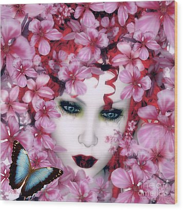 Madame Butterfly Wood Print by Shanina Conway
