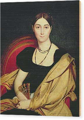 Madame Devaucay Wood Print by Jean Auguste Dominique Ingres