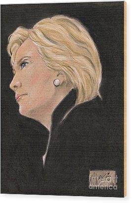 Madame President Wood Print by P J Lewis