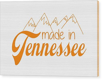 Wood Print featuring the digital art Made In Tennessee Orange by Heather Applegate